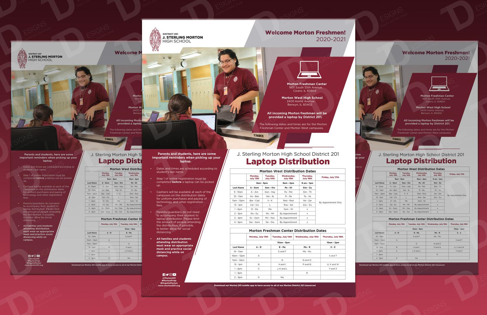 Morton District 201 Laptop Distribution Flier