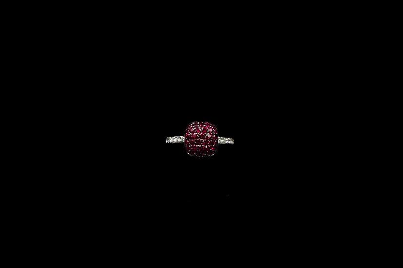 18K Ruby Cushion Ring