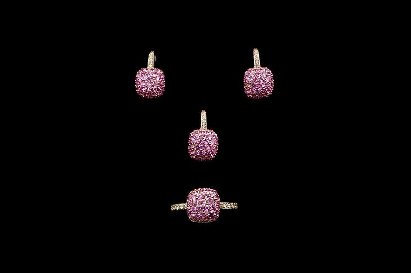 18K Pink Sapphire