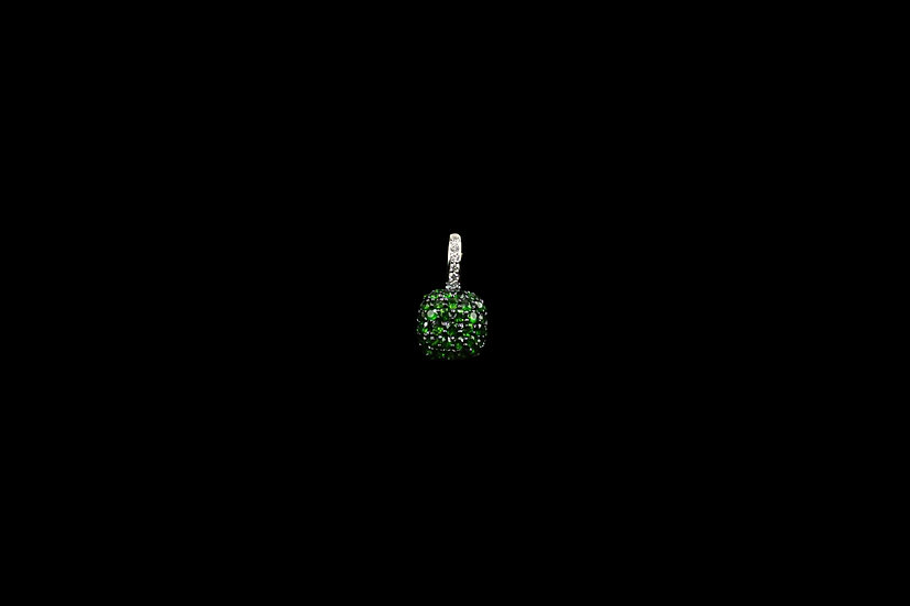 18K Tsavorite Cushion Pendant