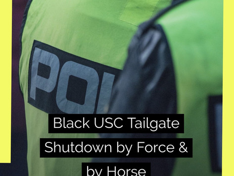 University of South Carolina's Black  Homecoming Tailgate Shutdown by Force and by Horse