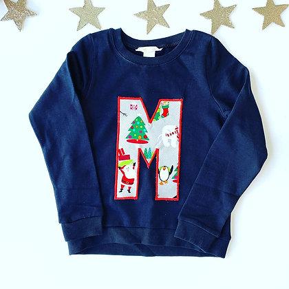 Letter Christmas Sweatshirt