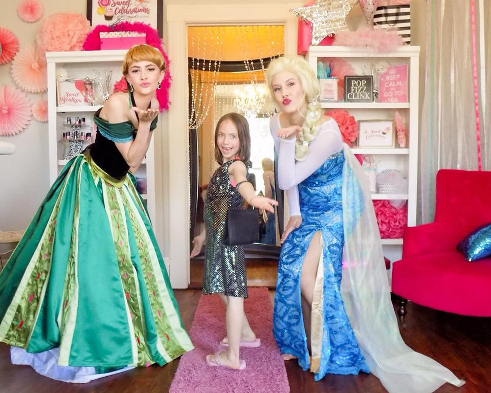 birthday princesses at Sweet Superstar party