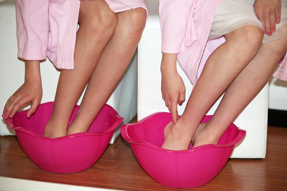 spa party foot soaks