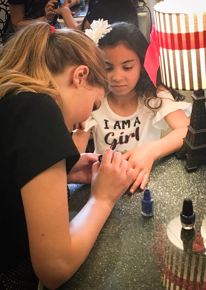 Mini-manis in our Glam Lounge