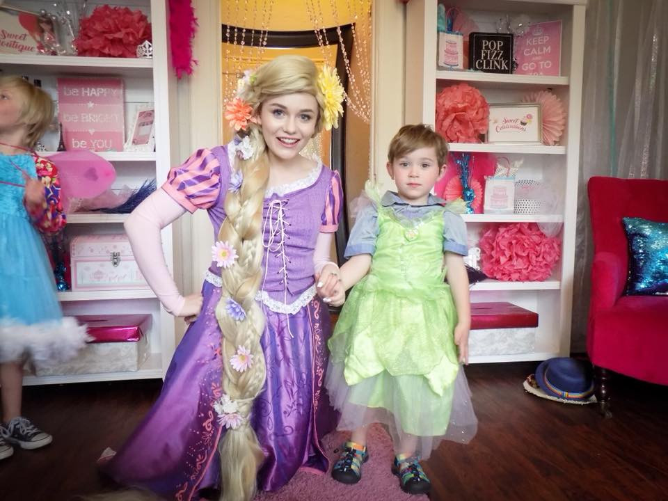 Rapunzel and a new friend