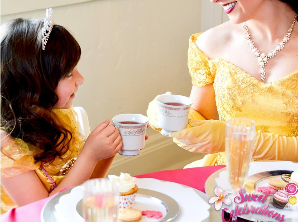 Beauty Princess and friend enjoy tea party
