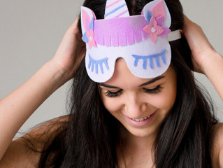 Slumber party unicorn eye masks