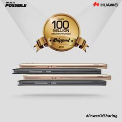 2. Huawei 100 million shipped