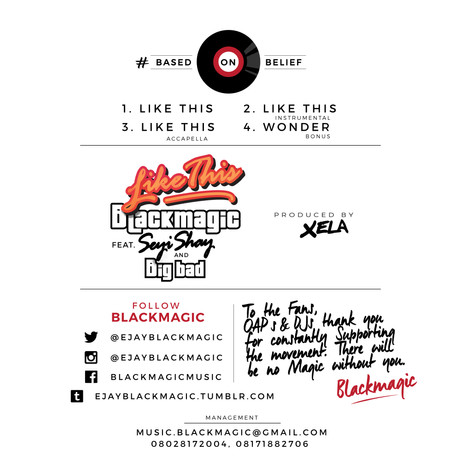 Blackmagic - Like This tracklist Metroin