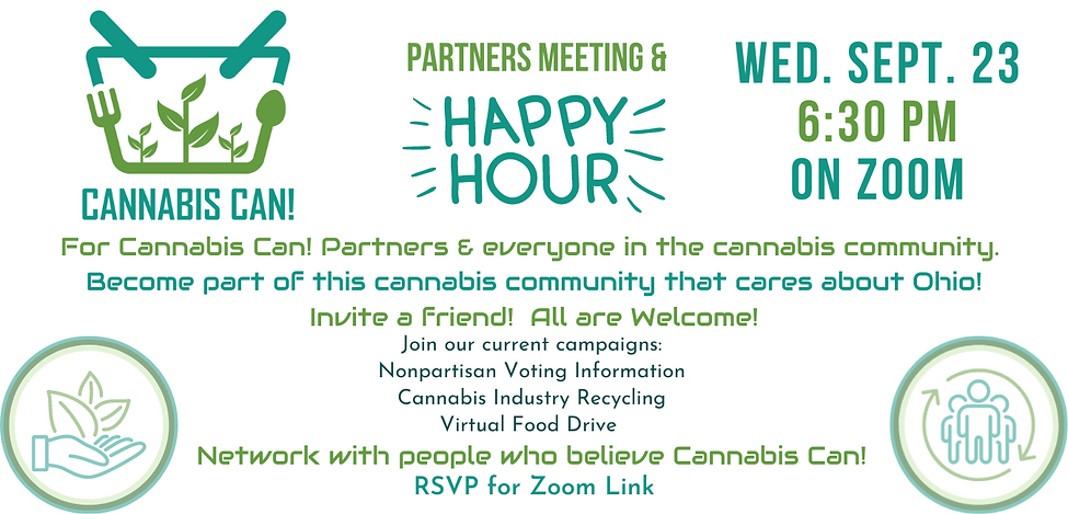 Cannabis Can! September Meeting & Happy