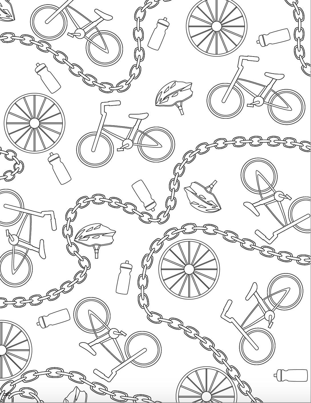 MSU Bike Adult Coloring Page