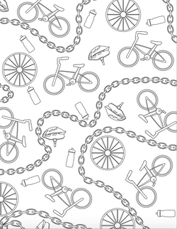 MSU Bike Adult Coloring Page