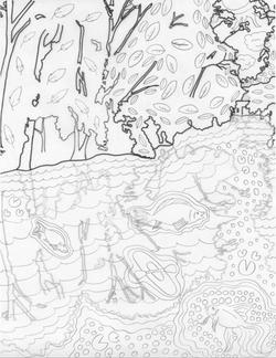 MSU Red Cedar Coloring Page