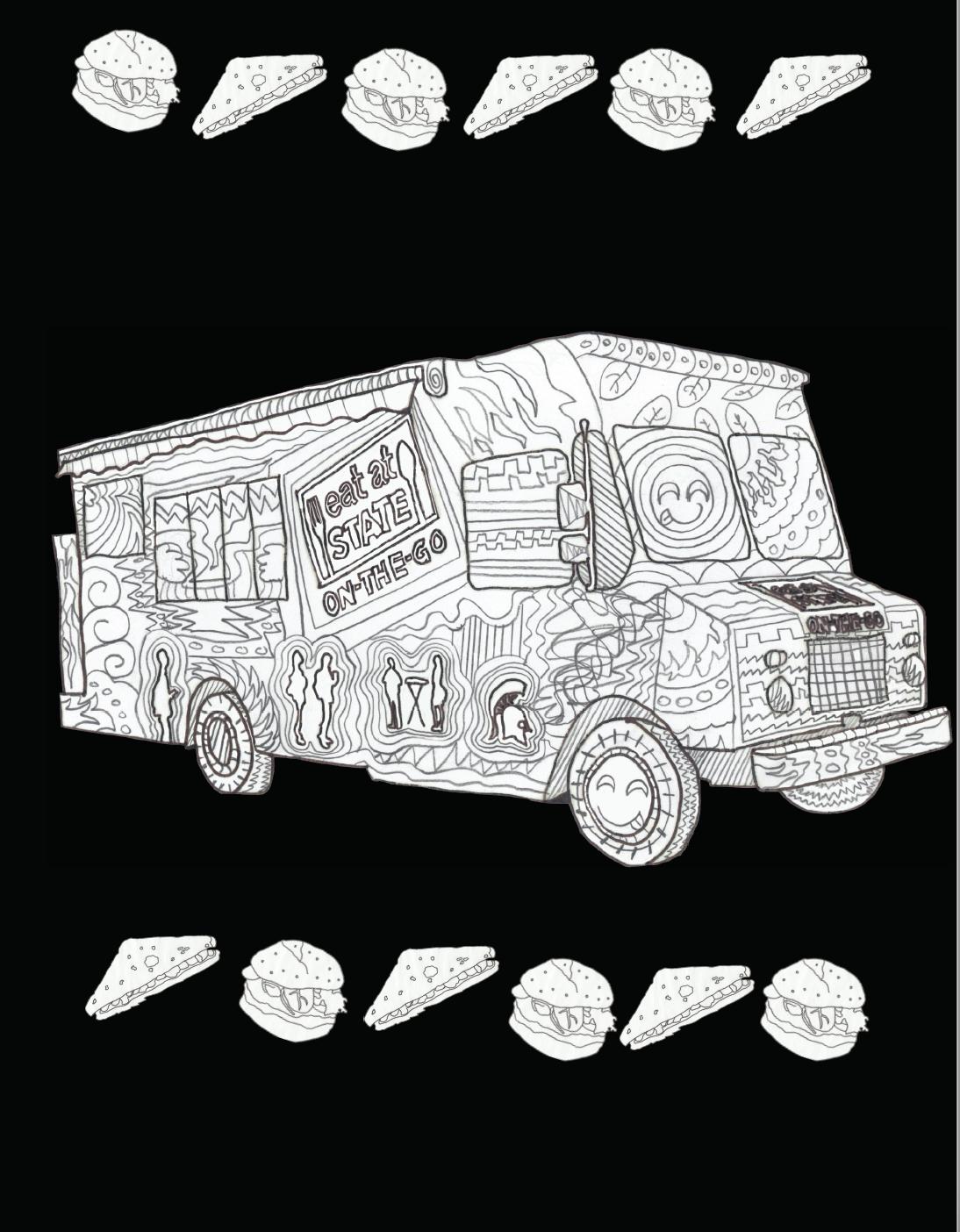 MSU Truck Coloring Page