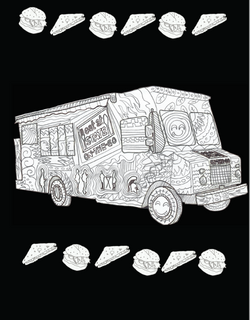 MSU Truck Coloring Page