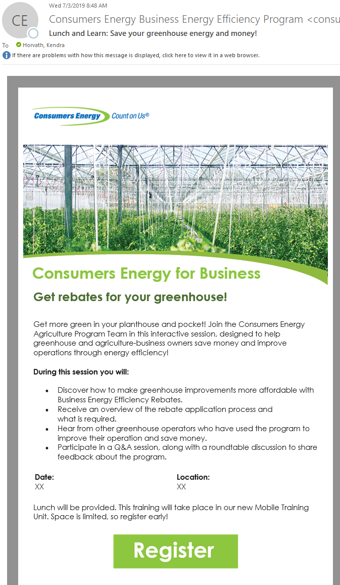Greenhouse Email