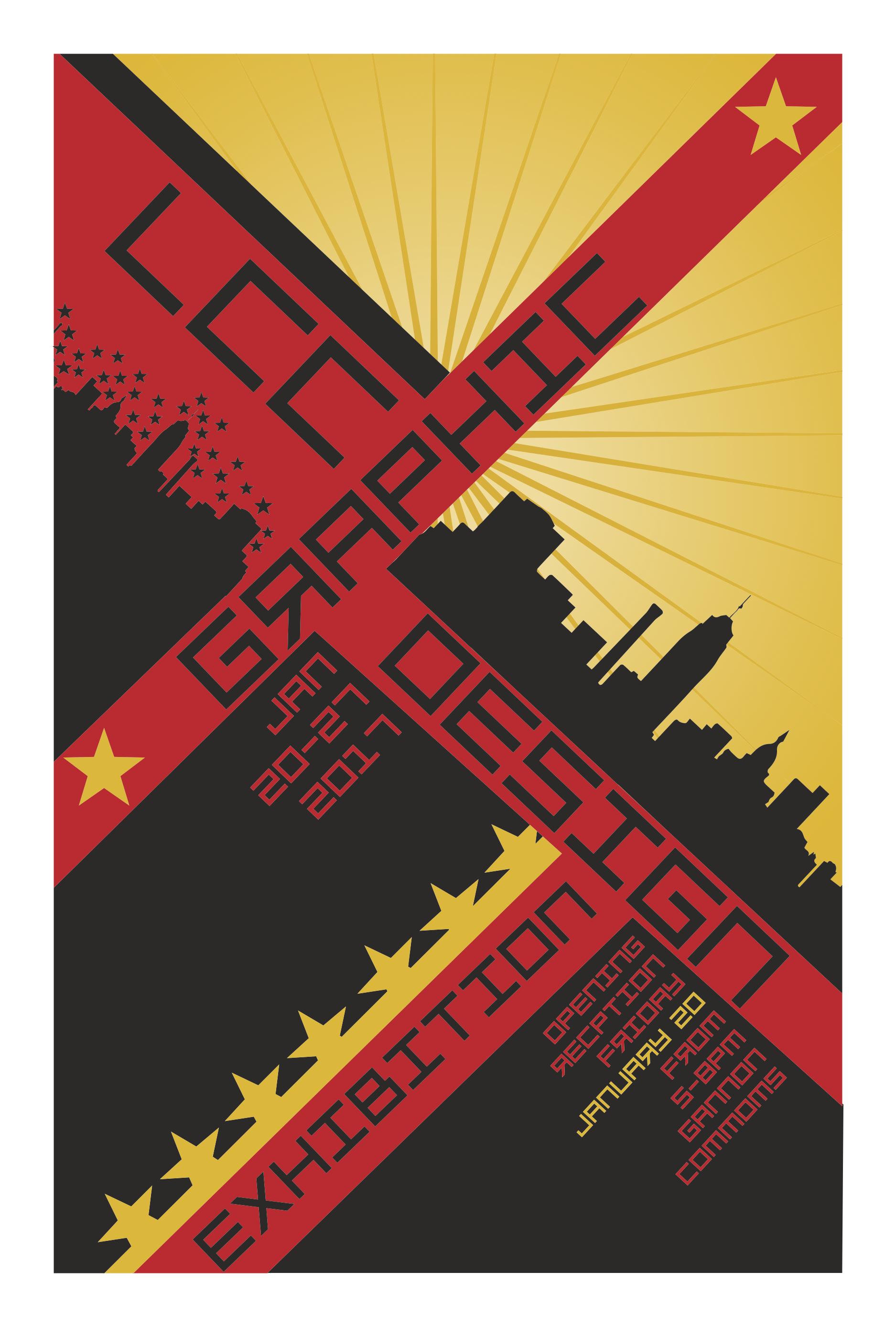 LCC Graphic Design Exhibition Poster