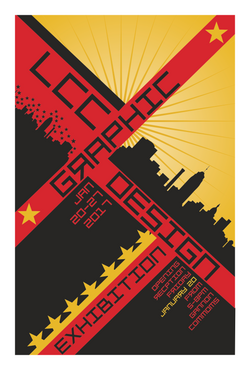 LCC Graphic Design Exhibition Poster