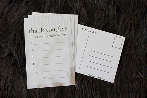 THANK YOU FIVE - Pack of 4 Postcards