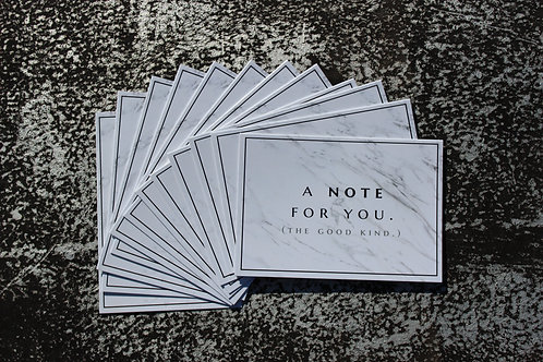 A NOTE FOR YOU - 12 PACK