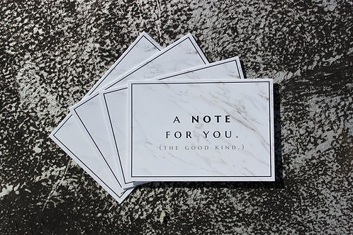 A NOTE FOR YOU - 4 PACK