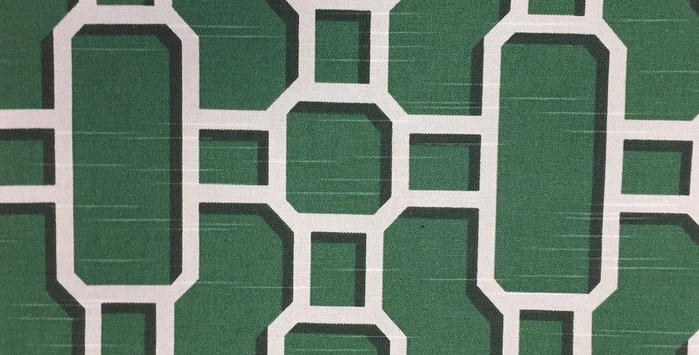 Emerald Green Modern Lattice