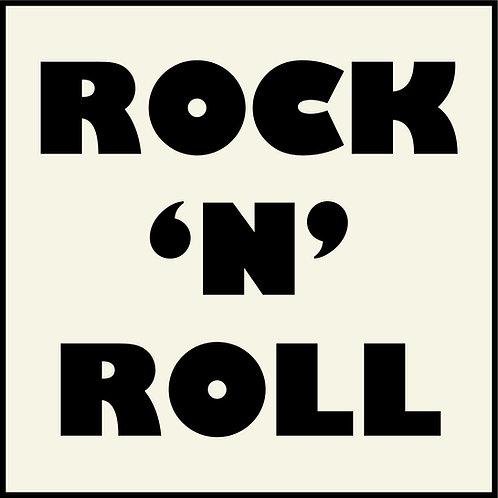 Rock N Roll Sign on PVC Board