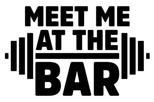 Meet At The Bar Sign