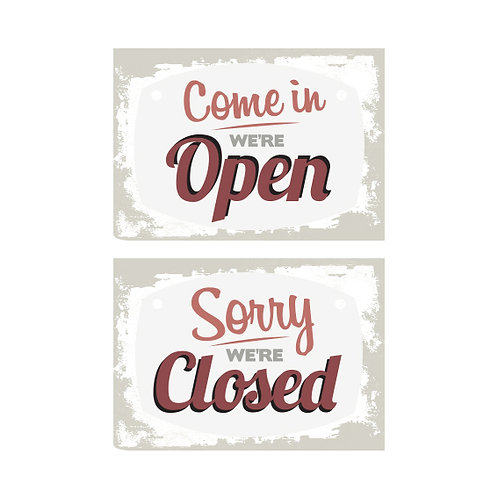Open Closed Sign A4 2 Sided