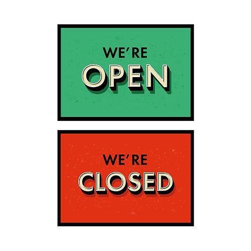 Open Closed Signs A4 2 Sided