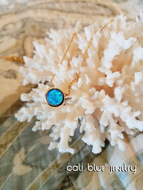 Brilliant Blue Opal Necklace by Cali Blue