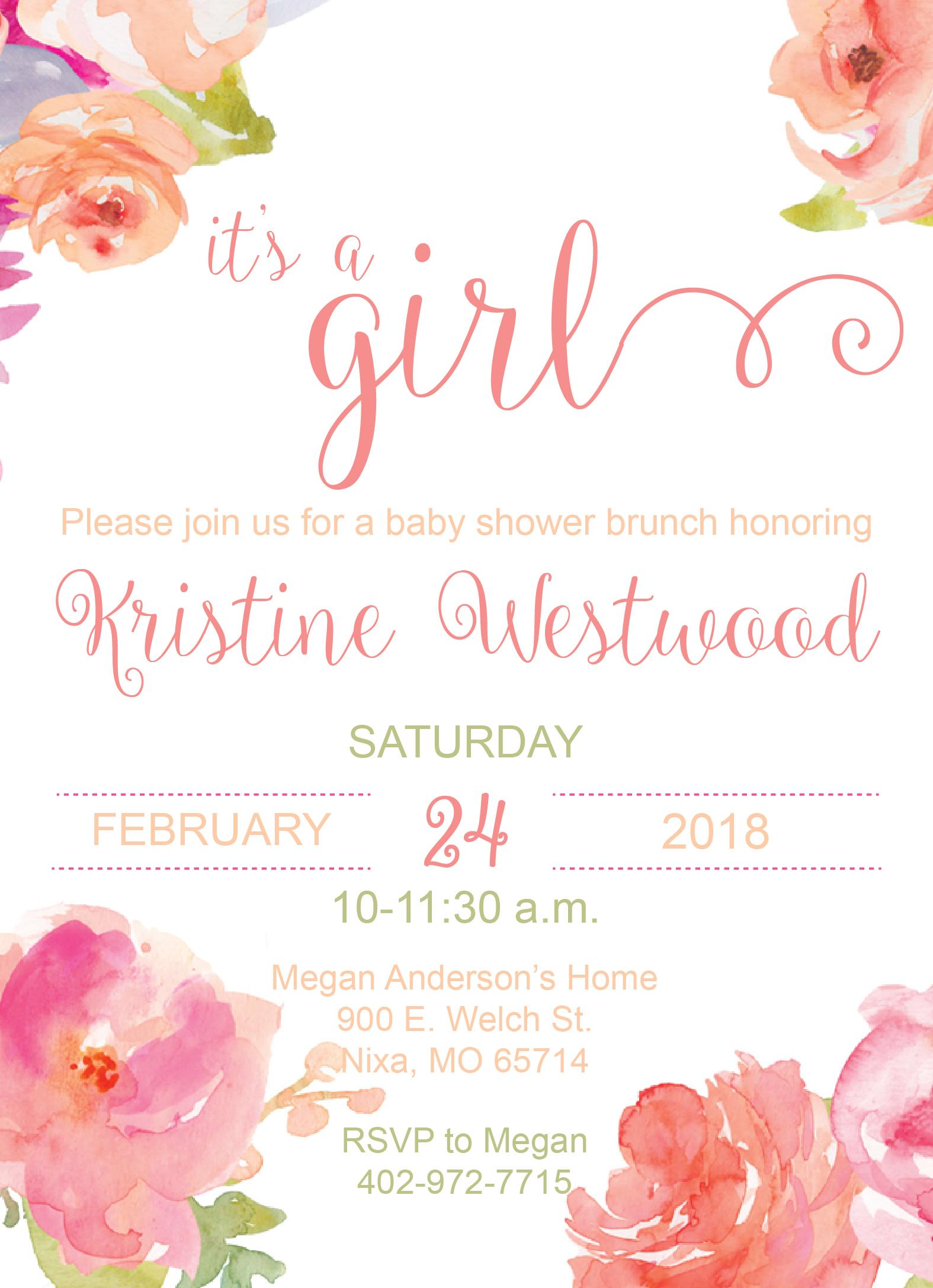 Flower Garden Baby Shower Invite