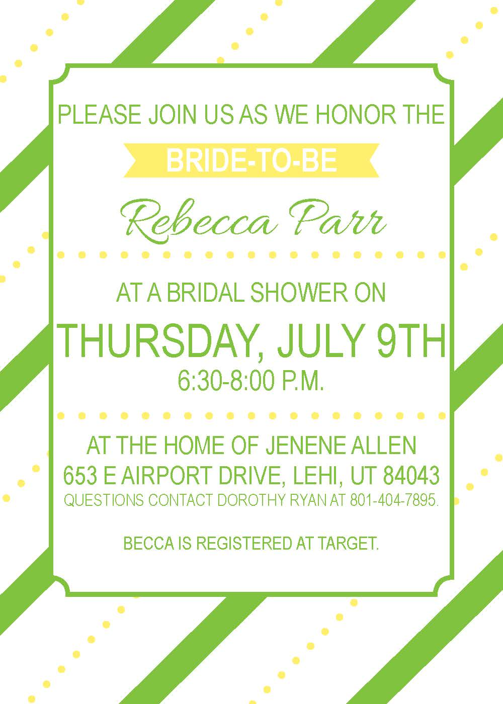 Lemon & Lime Bridal Shower