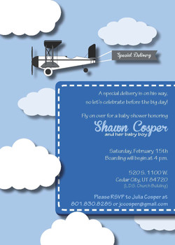 Airplane Baby Shower Front