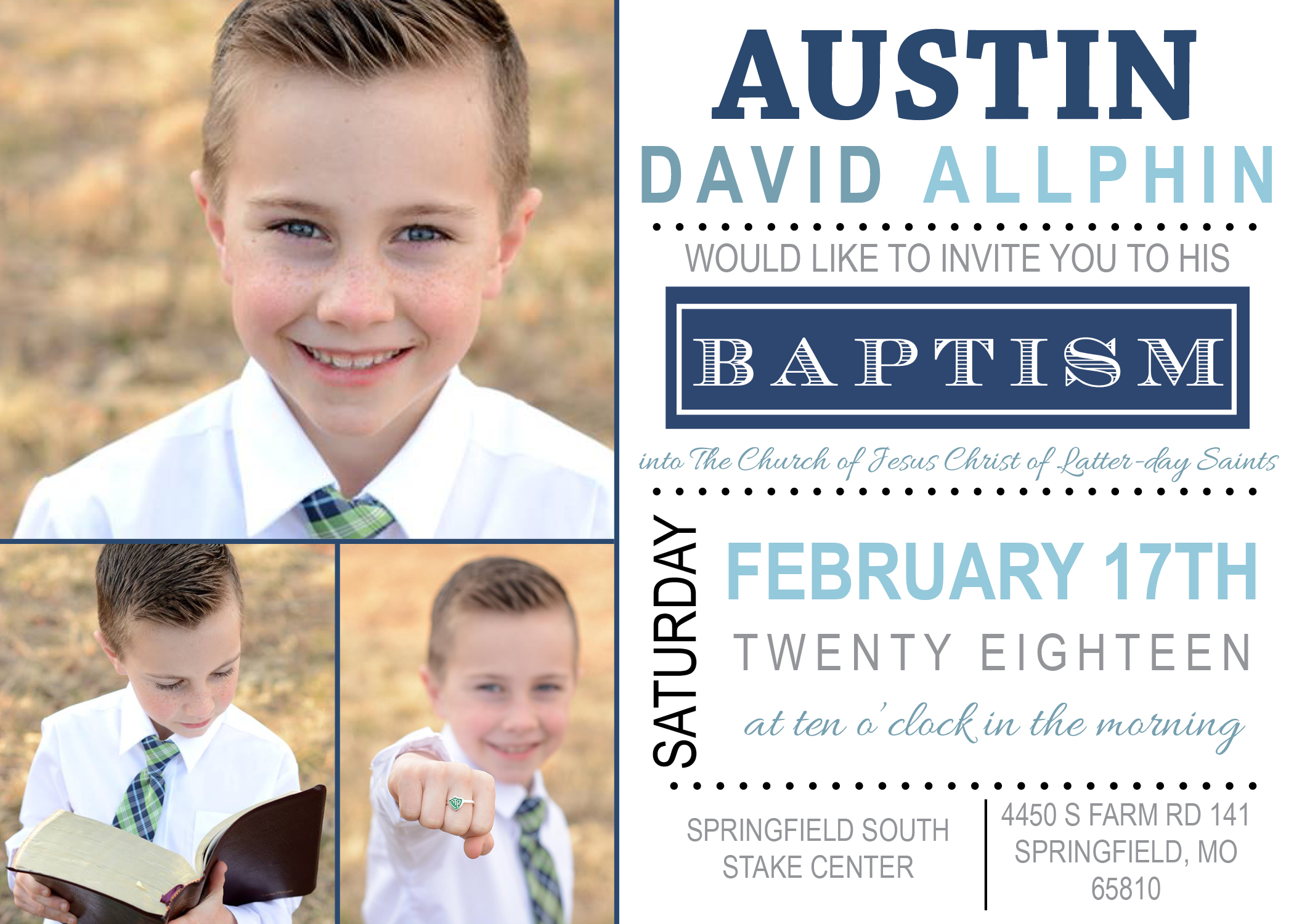 Baptism Announcement