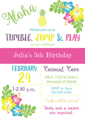Hawaiian Birthday Invitation
