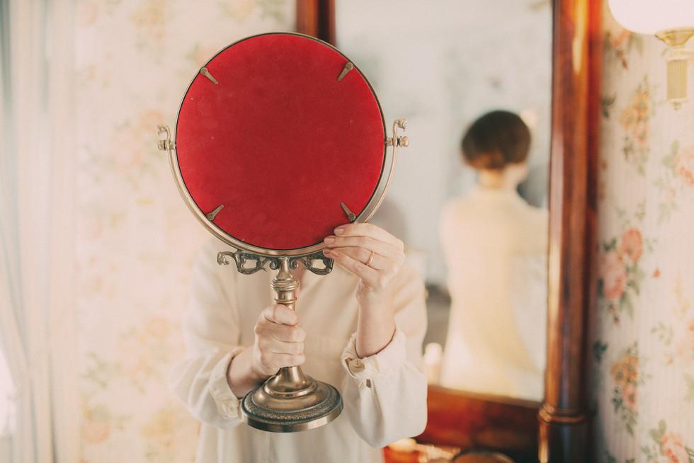 bröllopsfoto Sundsvall spegel