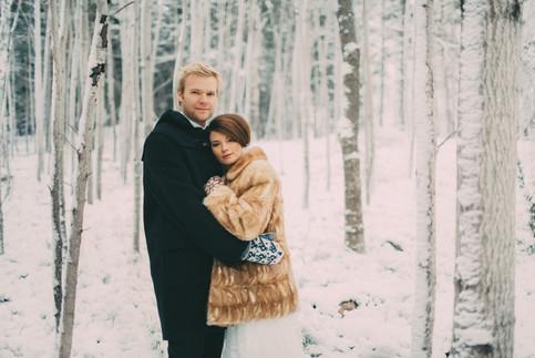 bröllopsfoto Sundsvall vinterbröllop