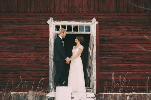 bröllopsfotograf Umeå vinter