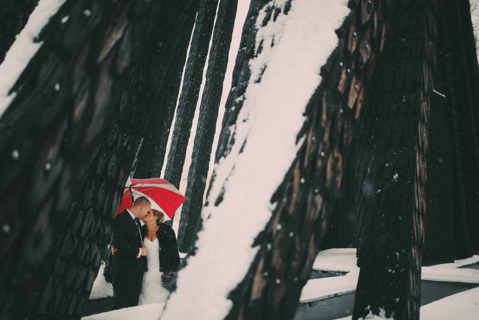bröllopsfotograf vinter Härnösand