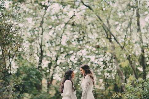 Bröllopsfotograf Sundsvall träd