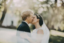 bröllopsfotograf kyss Umeå