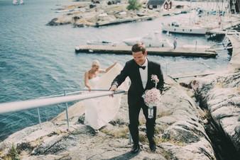 bröllopsfotograf Umeå klippa