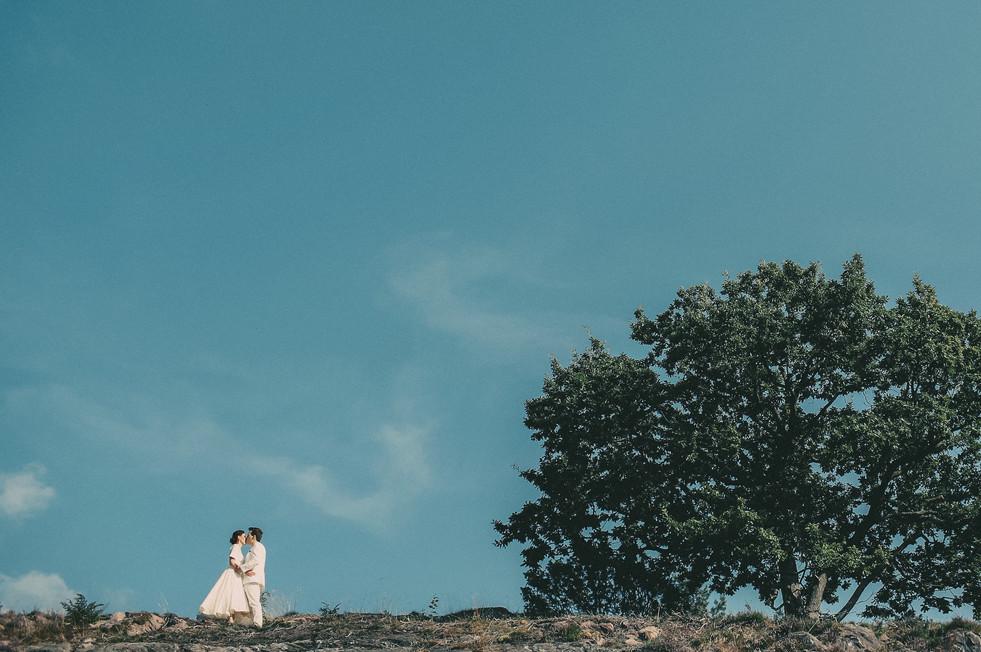 bröllopsfotograf himmel Västernorrland