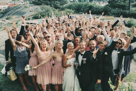 bröllopsfotograf Sundsvall alla gäster