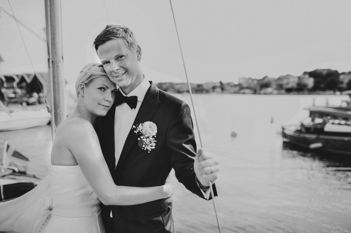 bröllopsfotograf Örnsköldsvik på bryggan