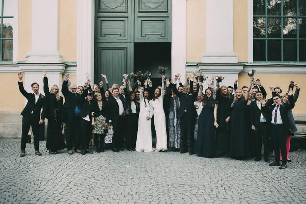 Bröllopsfotograf Örnsköldsvik gruppfoto
