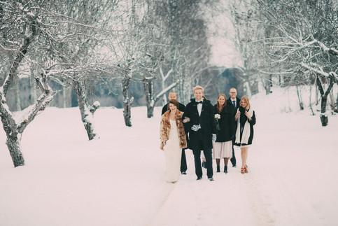 bröllopsfoto Västernorrland vinterbröllop
