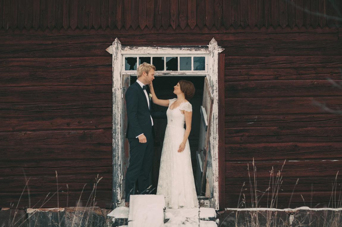 bröllopsfoto Umeå lada
